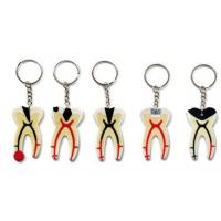 Wholesale Dental Keychain For Dentist Team Gift Molar Tooth Rubber Key Chain from china suppliers