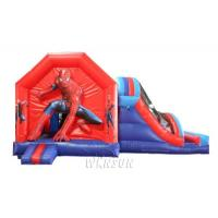 Wholesale Spider man trampoline / Avenger League series trampoline with Slide WSC-327 from china suppliers