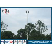 Wholesale Led High Mast Commercial Light Pole , Hot Dip Galvanized Flood Light Poles Q235 from china suppliers