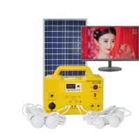 China Lighting 30 hours 20W solar power lighting system solar light kit with MP3 player FM radio 4 LED Bulb for sale