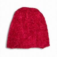 Wholesale Feather Yarn Hat, Available in Red from china suppliers