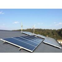 Safe Home Wind Turbine System , 5kw Wind Turbine Generator With Solar Controller Inverter Guyed Tower