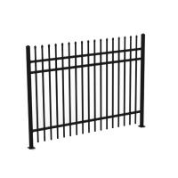 Wholesale 1.8mH 3 Rails Galvanized Wrought Iron Fence Panels , Decorative Metal Fencing from china suppliers