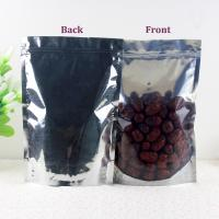 China Recycled One side clear aluminum foil printing pouch zip lock packaging bags for sale