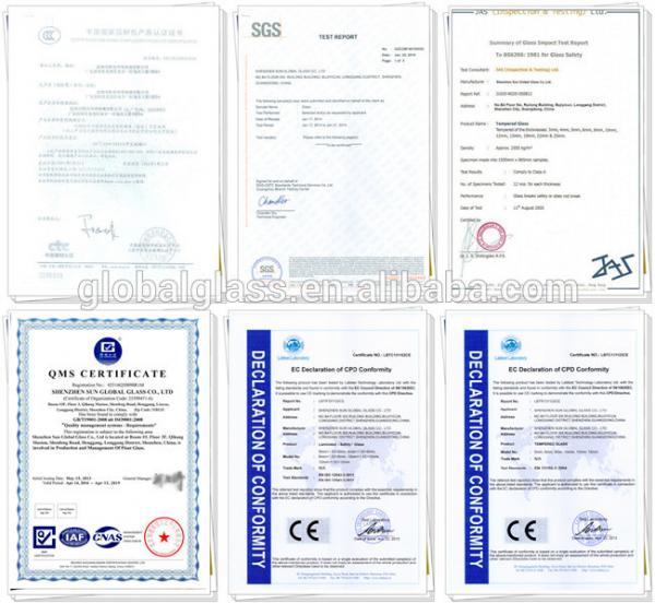 Glass Certificate
