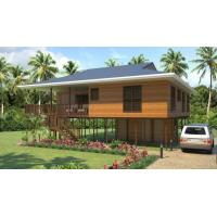 Wholesale Heat Insulation Prefab Home Beach Bungalows , Customized Light Steel Bungalow from china suppliers