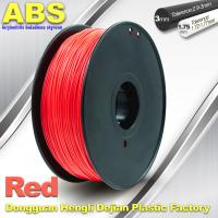Wholesale 1.75mm /  3.0mm ABS 3d Printer Filament Red With Good Elasticity from china suppliers