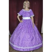 Wholesale Civil War Dress Wholesale XXS to XXXL CIVIL WAR VICTORIAN DICKENS SOUTHERB BELLE SASS Purple Print Costume Dress Gown from china suppliers