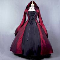 Wholesale Medieval Dress Wholesale XXS to XXXL Renaissance Medieval Elegant ROCOCO Punk Gothic Red Dress Cosplay from china suppliers