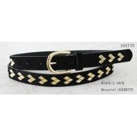 Wholesale Fake Suede Ladies Fashion Belts Ln Gold Color Of Rhombus Shape Metal & Buckle from china suppliers