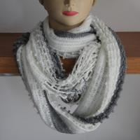 Wholesale Acrylic yarns warp knitting neck scarves/scarf in stripe style from china suppliers