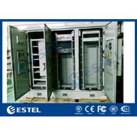 China Triple Bay Racking Outdoor Telecom Enclosure With Air Conditioner Cooling System for sale