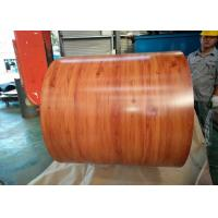Wholesale Wooden Grain Color Coated Steel Coil For Department Store Roofing Tiles from china suppliers
