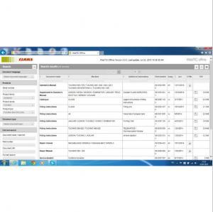 Claas WebTIC Offline Repair manuals, wiring and hydraulic diagrams, etc 2016