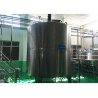 Wholesale Easy Clean Stainless Steel Liquid Storage Tanks Jacketed Type For Milk Production from china suppliers