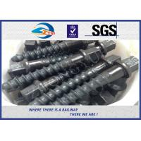 Customized 35# 45# Railroad Screw Spike For Railway Fastening System Construction for sale