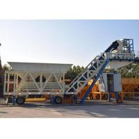 Wholesale Ready Concrete Batch Mix Plant Movable With Cement Silos 30kw Mixer Power from china suppliers