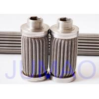 China Safety Pleated Water Filter Cartridges , Ss Filter Cartridge For Methanol Filtration on sale
