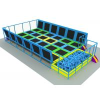 Wholesale Anti UV Adults / Kids Trampoline Park Without Scratch 19*13*3m KP140625-1 from china suppliers