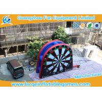 Quality Double Side Inflatable Target Foot Dart Board Soccer Darts Game 0.55mm PVC Tarpaulin for sale