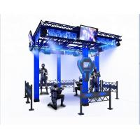 Wholesale Big Theme Park VR Space Walker 9D Virtual Reality Platform Black / Blue Color from china suppliers