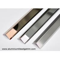 Wholesale Collision - Resistant Stainless Steel Corner Guards With 90° Right Angle / Metal Wall Edge Protector from china suppliers