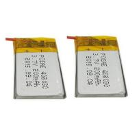 Wholesale Green Power Rechargeable Battery Pack / Li Polymer Battery Pack 3.7V 200mAh , 20mm Width from china suppliers