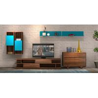Wholesale 2017 New Living room Furniture TV Wall Unit Floor stand Hang cabinet in MDF melamine with High glossy panel from china suppliers