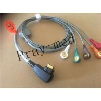 Buy cheap Compatible DMS 300 system holter 5lead ecg cable with 19pin snap from wholesalers