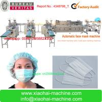 China NO LABOR Full Automatic face mask making machine join earloop and tie on the same machine for sale