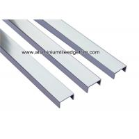 Wholesale U20mm Glossy Silver U Shaped Aluminum Splint / Channel / Brace For Border from china suppliers