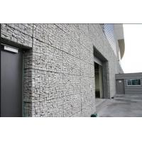 Wholesale Silver Wire Gabion Baskets , Gabion Wall Cages For Rock Retaining Walls from china suppliers