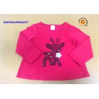 Customized Children T Shirt 100% Cotton Long Sleeve Baby Girl Tee Shirts for sale