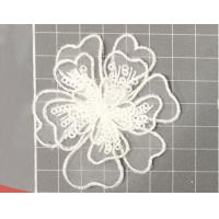 Garment Accessories Embroidery Organza Applique Flower  with Sequin