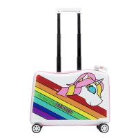 China NHL021-6 Nohoo PC children trolley case scooter hard case cartoon luggage 20 inch for sale