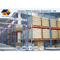 High Capacity Storage Pallet Warehouse Racking Metal Display With Frame Barrier