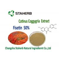 Wholesale Anti-inflammatory and antiproliferative Smoke Tree Organic Plant Extracts 50% Fisetin Powder Cotinus Coggygria Extract from china suppliers