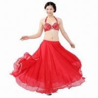 China Belly dance skirt, various sizes are available, made of chiffon on sale