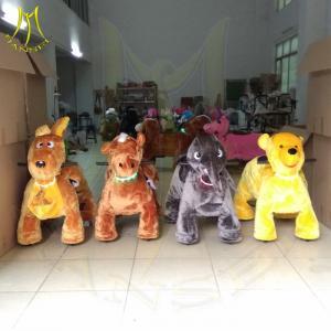Hansel children indoor battery operated electric stuffed animal unicorn on wheels