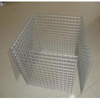 Wholesale Wire Mesh Rock Retaining Wall , Construction Galvanized Gabion Box from china suppliers