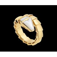 Best Bvlgari Serpenti 18 kt yellow gold ring with mother of pearl Ref. AN855765 wholesale