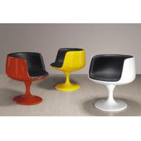 Fiberglass Tea Room Chairs For Bar Furniture , PU Leather Coffee Cup Chairs