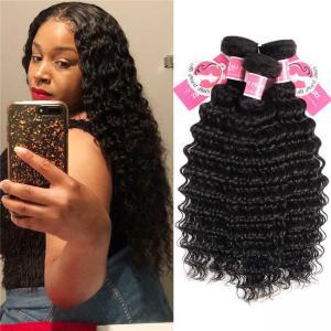 Deep Wave Peruvian Human Hair Bundles 3 Pieces Virgin Remy Hair Weave