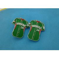 China Green Color Soft Enamel Lapel Pins ,  Iron Trading Pins For Business Promotion for sale