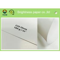 China Large Art Card Paper Glossy Coated , Art Board Paper For High Speed Sheet Fed Press on sale