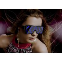 China Magic Flashing Luminous LED Glasses Light 8 Patterns For Halloween Nightclub for sale