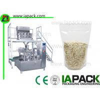 China Stand UP Zipped Pouch Rotary Packing Machine Oatmeal Doy Pack on sale