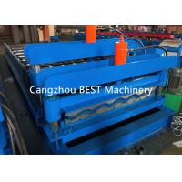 China Trapzoidal Metal Roof Corrugated Tile Making Machine 4-6m/Min Speed for sale
