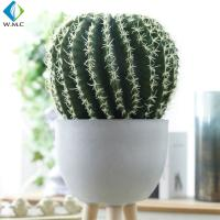 China Home Decor Artificial Green Plants , Customized Ball Cactus Plant for sale