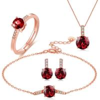 Buy cheap Rolo Chain Gemstone Jewelry Sets Chain Necklace Bracelet Ring Earrings 925 from wholesalers